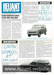 Reliant Review 13 Special Edition