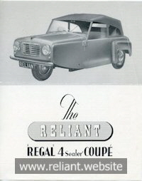 Reliant Regal Mk I brochure