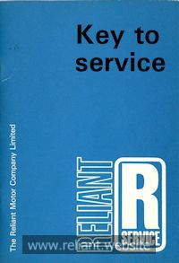 Reliant Key To Service