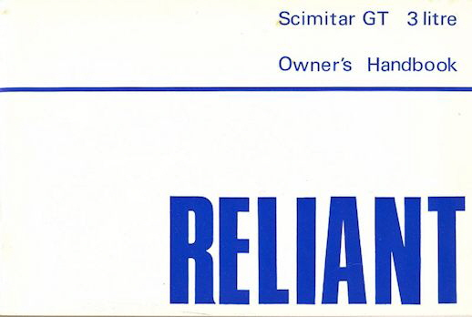Reliant Owner's Handbook Catalog