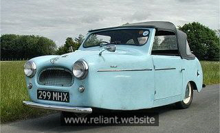 Image result for reliant 3 wheeler 1950s
